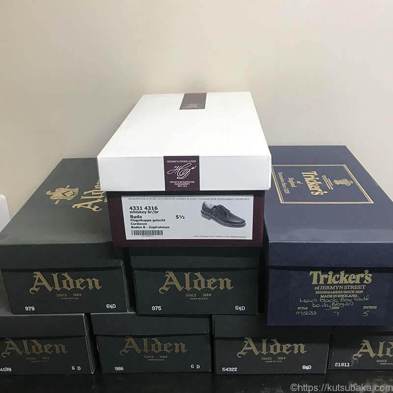 靴の箱 alden Tricker's