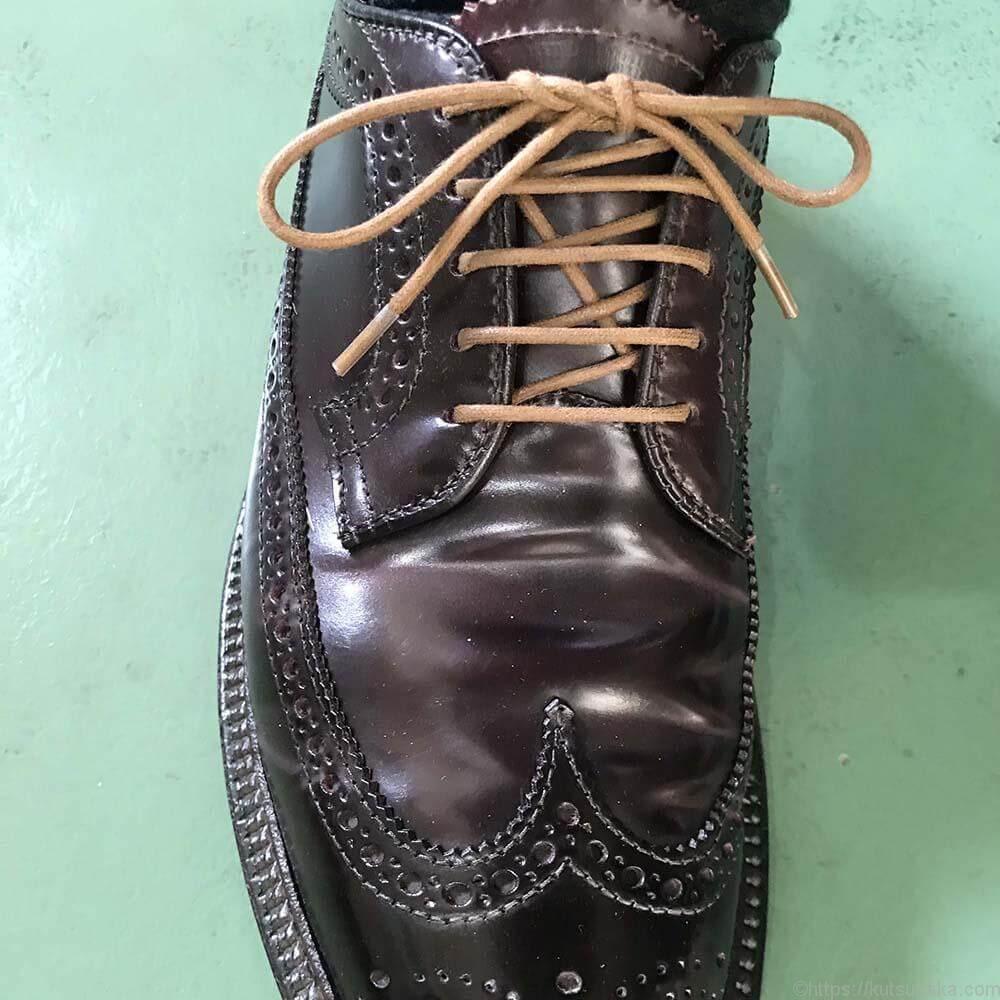 靴紐の結び方 シングル 靴バカ.com
